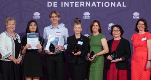2019 International Student Awards recipients